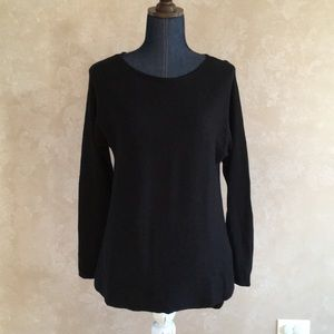 Michael Kors womens thin knit sweater top stretchy